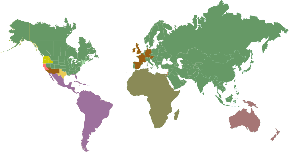 National Wire Cable World Map for Sales Representatives
